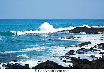 Hawaii coast - Coastal view on the Big Island of Hawaii with...