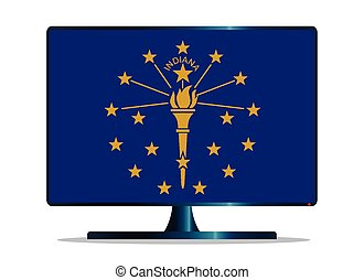 Indiana Flag TV - A TV or computer screen with the Indiana...