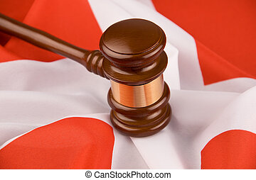 Court Hammer and Swiss flag
