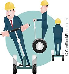segway - character design, businessman vector, character of...