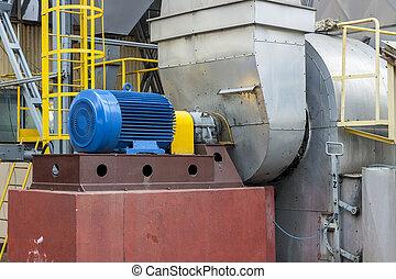 Industrial fumes ventilator - Poland. - Industrial fumes...
