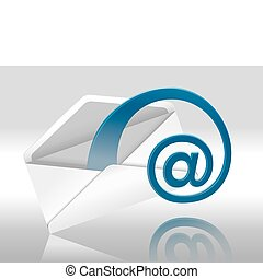 E-Mail - Web E-Mail (Envelope With Space For Your Text)