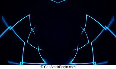 Abstract VJ Lines background. Seamless loop