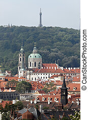 Prague, St Nicholas church and observatory