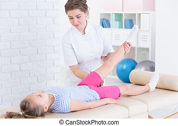 Physical therapy with child - Private leg physical therapy...