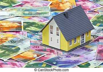 financiamento, casa, Suíço, francos