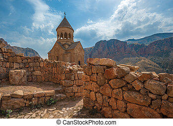 Ancient monastery Noravank in the mountains in Amaghu...