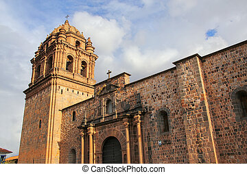 Convent of Santo Domingo in Koricancha complex, Cusco, Peru....