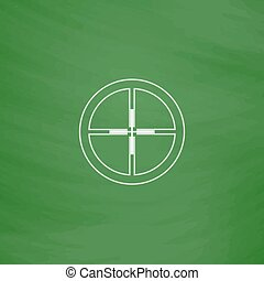 Crosshair computer symbol - Crosshair Outline vector icon...