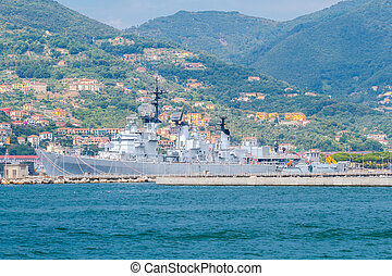 Military ships in La Spezia - NATO Military ships in the Bay...