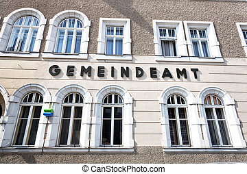 Facade of a municipal office in Bavaria - Stylish facade...