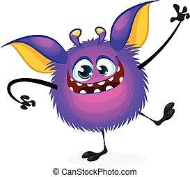 Vector cartoon Halloween monster