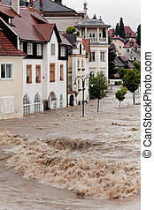 Floods and flooding in Steyr, Austria - Flooding and...