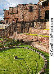 Koricancha complex in Cusco, Peru. Koricancha was the most...