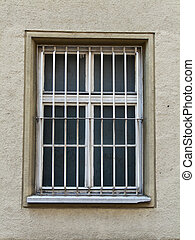 Barred window of a prison - Barred windows of an old prison