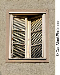 Old wooden windows of a house