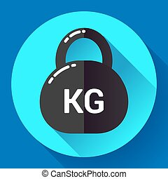 Weight Icon in trendy flat style Sport fitness app symbol -...