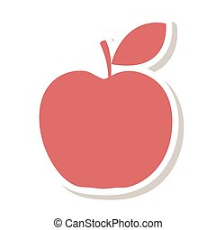 apple fruit school gift vector illustration design