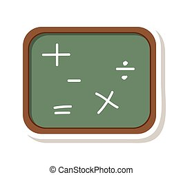 chalkboard math class icon vector illustration design