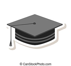 hat graduate isolated icon