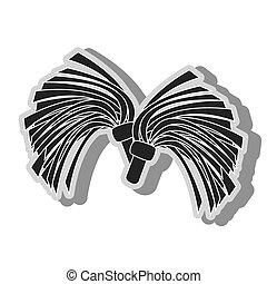 cheerlader pom symbol icon vector illustration - cheerlader...