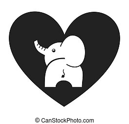 heart love pet mascot isolated icon