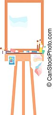 Easel art board vector isolated. Art board for some artist...