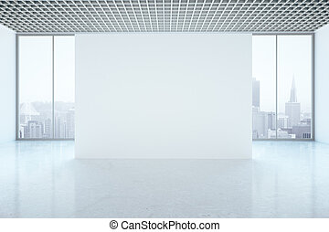 Unfurnished interior with blank wall - Bright unfurnished...