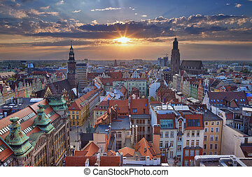 Wroclaw. - Image of Wroclaw, Poland during summer sunset.