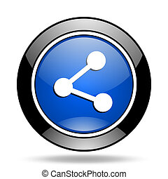 share blue glossy icon