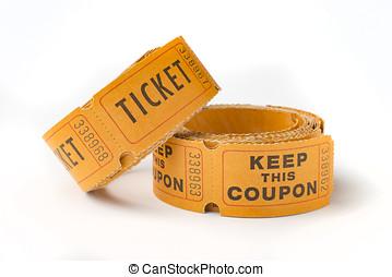 切符, 古い,  stubs