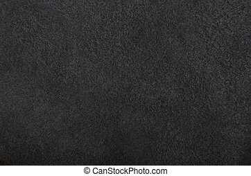 Natural suede leather background - Close up of natural black...