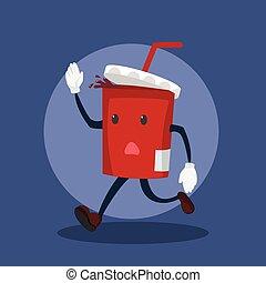 soft drink running illustration design