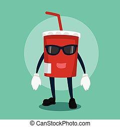 soft drink cool illustration design