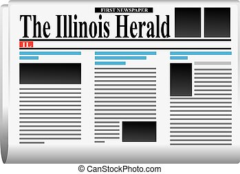 First newspaper - The Illinois Herald - The Illinois Herald...
