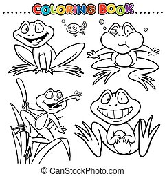 Frog - Cartoon Coloring Book - Frog