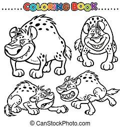 Hyena - Cartoon Coloring Book - Hyena