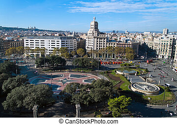Spain - Barcelona - Placa de Catalunya