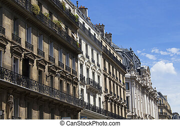 View of residential buildings in Paris