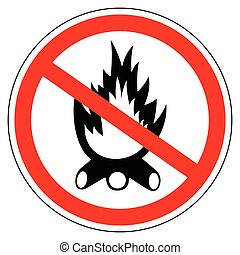 Sign campfires are prohibited