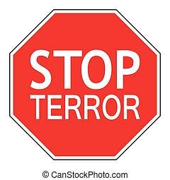 Sign stop terror