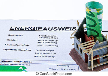 Carcass home with Energiepaa. Certification for Austria.