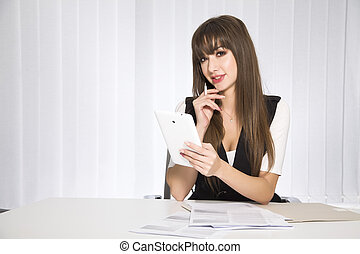 business concept - businesswoman - business concept -...