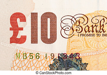 Pound currency background - 10 Pounds - Pound currency...