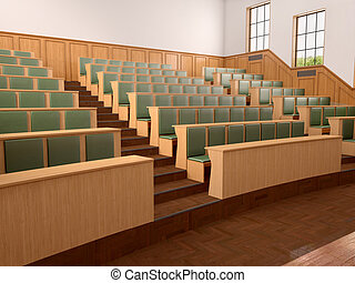 Empty modern style of lecturing of the University in the...