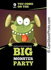 Monster party vector illustration