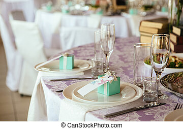 Wedding table appointments with beautiful decor - Table...