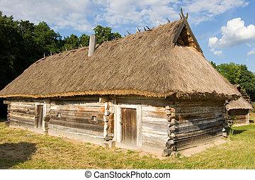 Authentic Ukrainian village houseA typical ukrainian antique...