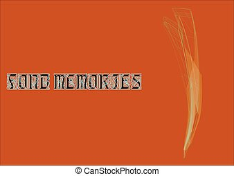 fond memories-01 - illustration, on which expression of fond...