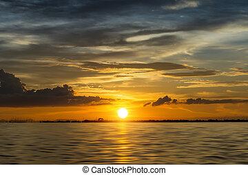 Beautiful sunset at the lake. - Beautiful sunset at the lake...
